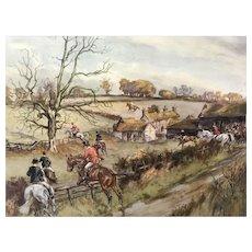Pair John King Hunt Scene Prints