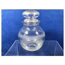Hand Etched Glass Jar With Lid