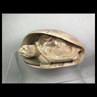 Carved Marble Tortoise