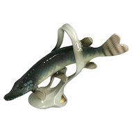 Royal Dux Northern Pike: Porcelain