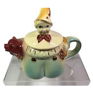 Shawnee Tom The Piper's Son Teapot with Gold Trim