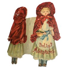 McLoughlin Bros : Dolly's Adventures Die Cut Book - Little Red Riding Hood 1895