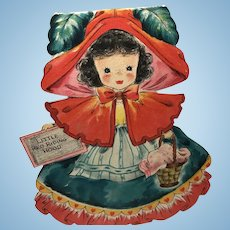 1947 Hallmark Doll: Little Red Riding Hood