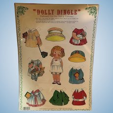 1981 Dolly Dingle: Embissed Cut-out Doll & Costumes