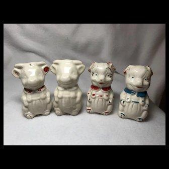 2 Pairs Salt & Pepper Shakers: Pigs & Cows