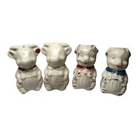 2 Pairs Salt & Pepper Shakers: Pigs & Cows