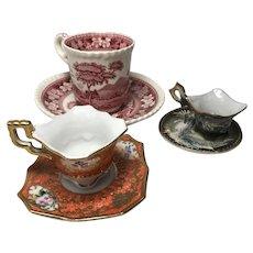 Trio of Minature China Cups: Copeland, Fleetwood, ACRA
