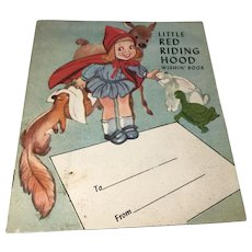 1950 Whitehall Publishing: Little Red Riding Hood: Wishin' Book