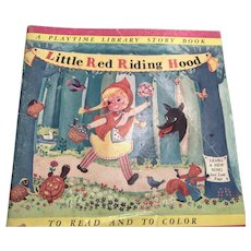 Little Red Riding Hood Story/ Song/Coloring Book