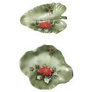 Lefton Poinsettia Dishes