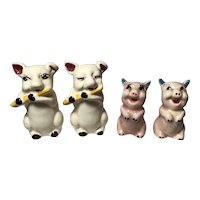 2 Pairs Pig Salt & Pepper