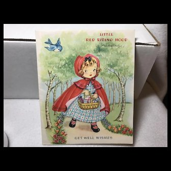 American Greeting Card Co. Little Red Riding Hood