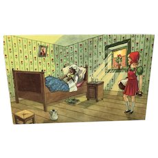 Belgian Post Card of Little Red Riding Hood