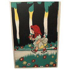 1946 German Red Riding Hood Post Card