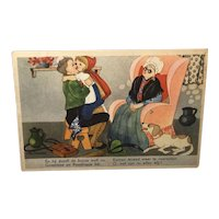 Dutch Post Card Red Riding Hood