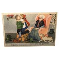 Dutch Post Card Red Riding Hood