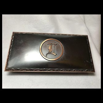 Hyde Park Boxed Set Coasters / Ashtrays of Bronze and Copper