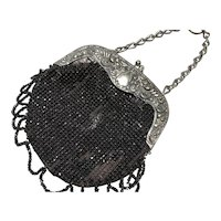 Black Velvet Chatelaine Purse