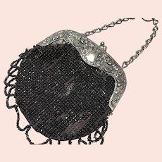 Black Velvet Chatelaine Purse