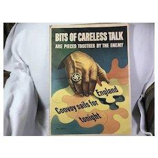 1943 Stevan Dohanos WW2 Poster: Bits of Careless Talk