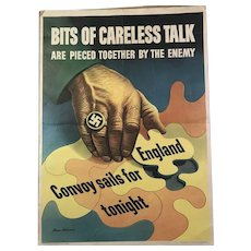 1943 Stevan Dohanos WW2 Poster: Bits of Careless Talk