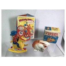 2 Windup Toys / Rabbit & Cowboy