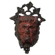 Devil Match Holder/ Wall Mount / Cast Iron / Original Paint