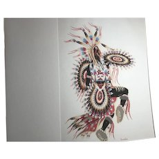 The Crow Dancer by Woody Crumbo; Silkscreen Print