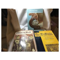 4 Antique Reference Books: Furniture, Clocks, Miscellaneous