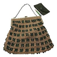 Crocheted Evening Bag with Beads