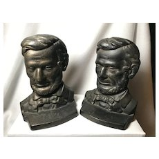 Abraham Lincoln Bookends Cast Iron