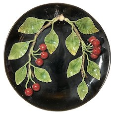 Palissy- Style Ware Portuguese:  Cherries