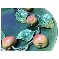 Reserved Portuguese Palissy Ware: Apples