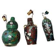 10 Brass Cloisonné Snuff Bottles