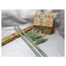 Carved Jade Chopsticks & Rests