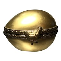 Golden Porcelain Egg Trinket Box
