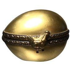 Golden Porcelain Egg Trinket Box