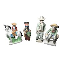 4 Western Porcelain Figures - Japan
