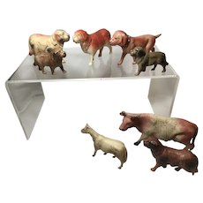8 Celluloid Animals