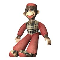 Monkey with Rubber Head / Hands:  Corduroy Body