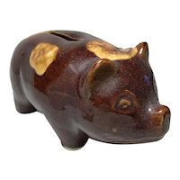 Old Fashioned Brown Pig Bank