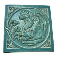 1996 Carruth Tile / Mouse Watering Flower Garden