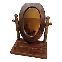 Wood Frame Shaving / Vanity Mirror