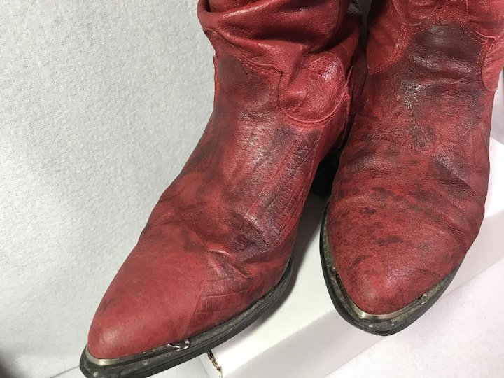 a9aa6235b42 Soft Red Leather Western Boots : W 7 1/2