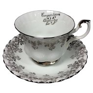 Royal Albert Silver Anniversary Cup/Saucer