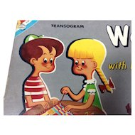 Transogram Weaving Loom Toy 1960s