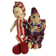 Vintage Clowns: Gund & Embroidered Face