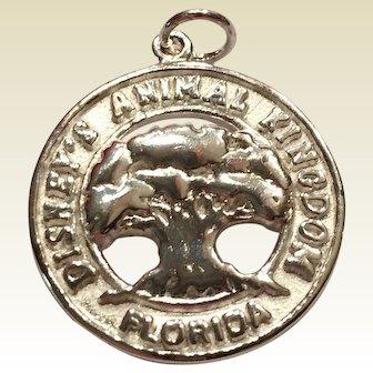 Rare Vintage Disney Animal Kingdom Florida Sterling Silver Charm