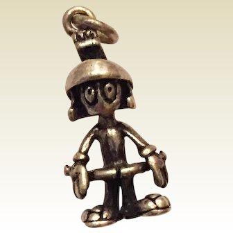 Vintage Warner Brothers Marvin the Martian Sterling Silver Charm