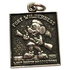 Vintage Disney Ford Wilderness Resort Sterling Silver Ch